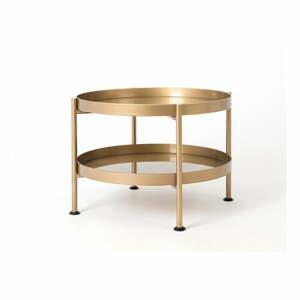 Konferenčný stolík v zlatej farbe Custom Form Hanna, ⌀ 60 cm
