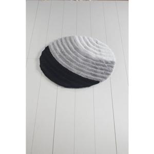Sivá kúpeľňová predložka Well Cap, ⌀ 90 cm