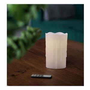 Sada 3 LED sviečok s diaľkovým ovládačom DecoKing Drip, výška 12,5 cm