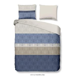 Modré obliečky na dvojlôžko z bavlny Good Morning Valence, 200×200 cm