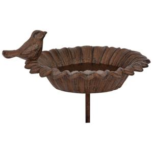 Liatinová zapichovacia fontánka s pitnou vodou pre vtáčiky Esschert Design Sweetie
