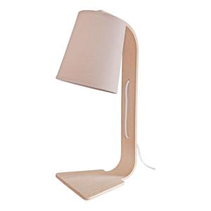 Stolová lampa s béžovým tienidlom Vox Fado
