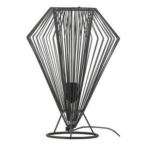 Čierna stolová lampa Vox Cesto, ⌀ 31 cm