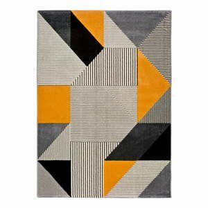 Oranžovo-sivý koberec Universal Gladys Duro, 140 × 200 cm
