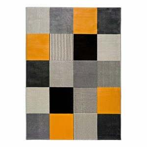 Oranžovo-sivý koberec Universal Gladys Lento, 140 × 200 cm