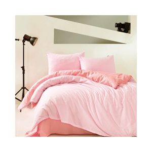 Ružové bavlnené obliečky s plachtou Marie Claire Suzy, 160 x 220 cm