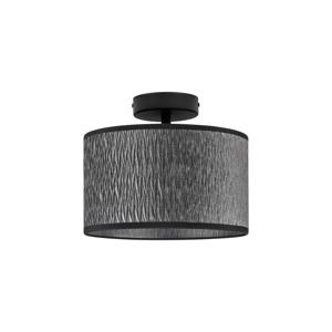Čierne stropné svietidlo Bulb Attack Once, ⌀ 25 cm