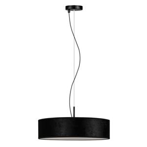 Čierne závesné svietidlo Bulb Attack Quince