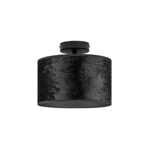 Čierne stropné svietidlo Bulb Attack Quince, ⌀ 25 cm