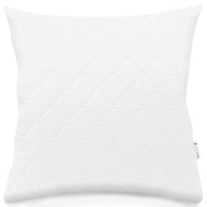 Biela obliečka na vankúš z mikrovlákna DecoKing Axel, 40×40 cm