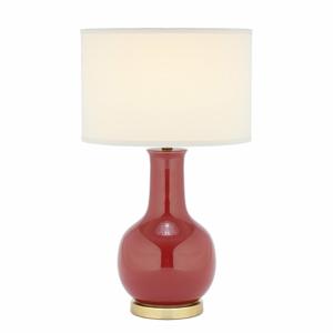 Stolová lampa s červenou základňou Safavieh Charlie