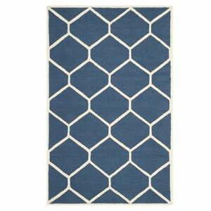 Tmavomodrý vlnený koberec Safavieh Lulu, 121×182 cm