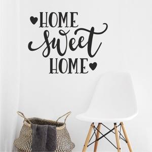 Čierna nástenná samolepka North Carolina Scandinavian Home Decors Motto V36