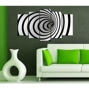 Viacdielny čierno-biely obraz 3D Art Illusion, 102×60 cm