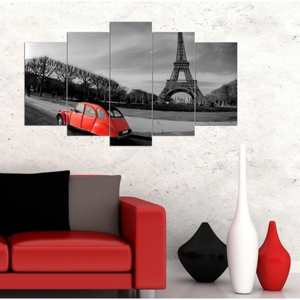 Viacdielny obraz 3D Art Romantic Eiffel, 102×60 cm
