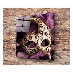 Sklenený obraz 3D Art Mask, 40×40 cm