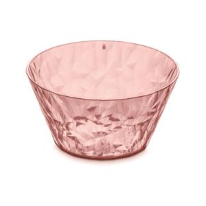 Lososovoružová plastová šalátová misa Tantitoni Crystal, 700 ml
