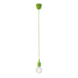 Zelené závesné svietidlo bez tienidla SULION Vintage
