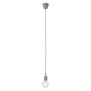 Sivé závesné svietidlo bez tienidla SULION Vintage