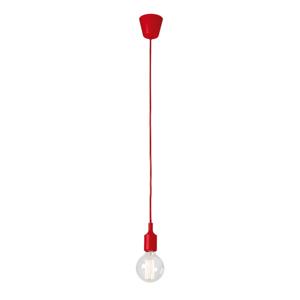 Červené závesné svietidlo bez tienidla SULION Fiji