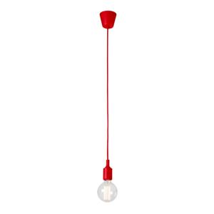 Červené závesné svietidlo bez tienidla SULION Sula