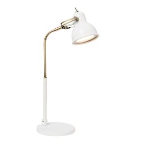 Biela stolová lampa s LED svetlom SULION Bang