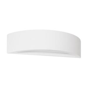Biele nástenné svietidlo zo sadry SULION Semicirle