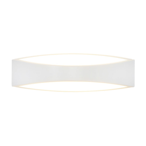 Biele nástenné svietidlo s LED svetlom SULION Selma