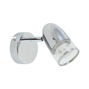 Nástenné svietidlo v striebornej farbe s LED svetlom SULION Perls