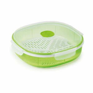 Zelená sada na naparovanie potravín v mikrovlnke Snips Dish Steamer, 2 l