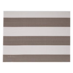 Béžovo-biele pruhované prestieranie Saleen Stripy