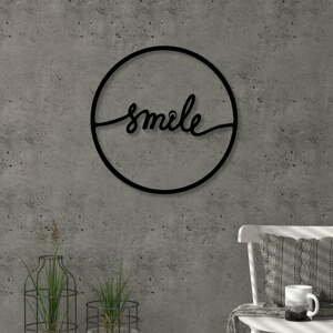 Nástenná dekorácia z kovu Smile