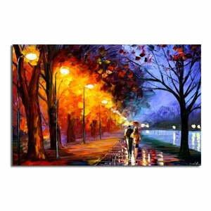 Obraz na plátne Fall Walk, 70×45 cm