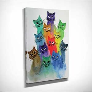 Obraz na plátne Happy Cats, 30×40 cm