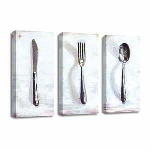 3-dielny obraz na plátne Dinner