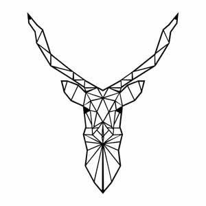 Kovová nástenná dekorácia Deer, 60×50 cm