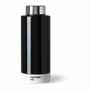 Čierna fľaša z antikoro ocele Pantone, 630 ml