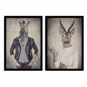 Dvojdielny obraz Home Ribs and Deer, 72×50 cm