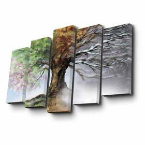Viacdielny obraz Four Seasons, 82×50 cm