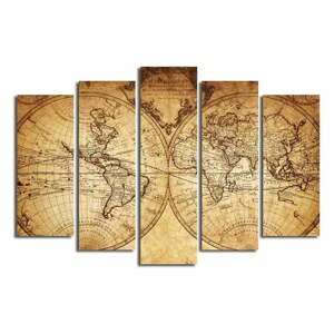 Viacdielny obraz Big Map Of The World, 105×70 cm