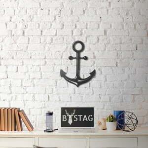 Nástenná kovová dekorácia Anchor, 47×35 cm