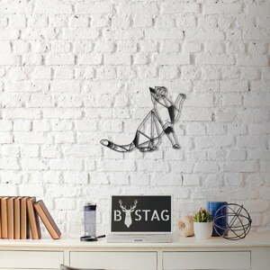 Nástenná kovová dekorácia Kitty, 36×51 cm