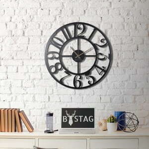Nástenné kovové hodiny Clasic, 70×70 cm