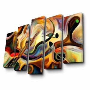 Viacdielny obraz Abstract Music, 105×70 cm