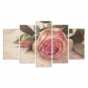 Viacdielny obraz Love Letter With A Rose, 110×60 cm