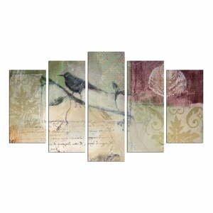 Viacdielny obraz Birdie On The Branch, 110×60 cm