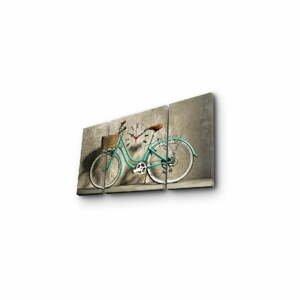 Nástenné obrazové hodiny Bicykel, 84×45 cm