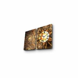 Nástenné obrazové hodiny Clock, 60×38 cm