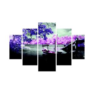 Viacdielny obraz Purple Water, 92×56 cm
