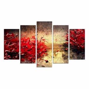 Viacdielny nástenný obraz Battle Of Red
